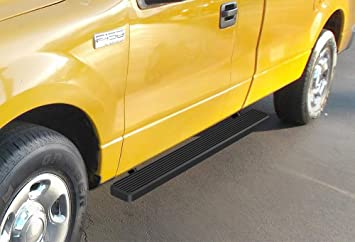 Nerf Bars Side Steps Side Bars APS iBoard Running Boards 5 inches Custom Fit 2004-2008 Ford F150 SuperCrew Cab Pickup 4-Door Exclude 04 Heritage Edition