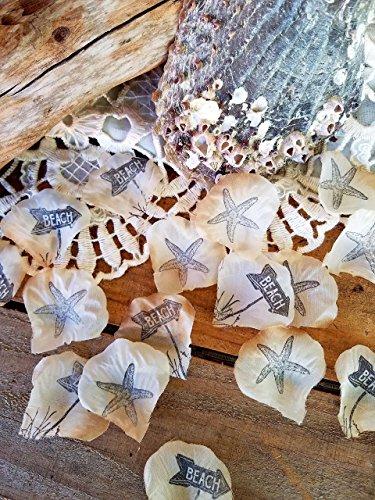 Beach Wedding Centerpieces - Beach Wedding Table Decorations,Beach Theme Party Confetti, Rustic Beach Party Decor 100 Pieces