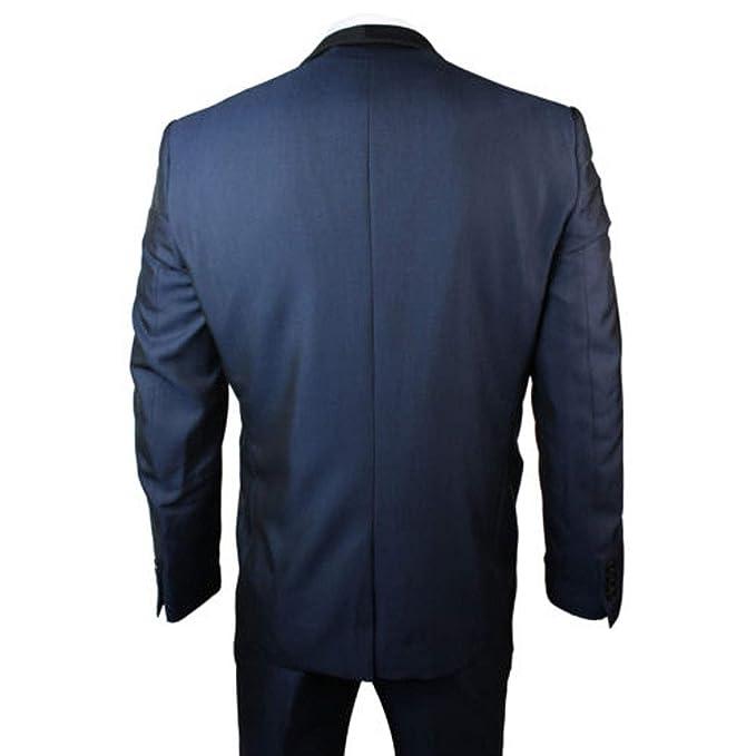 mys Men de Custom Made Negro Chal Solapa Traje Pants Chaleco ...