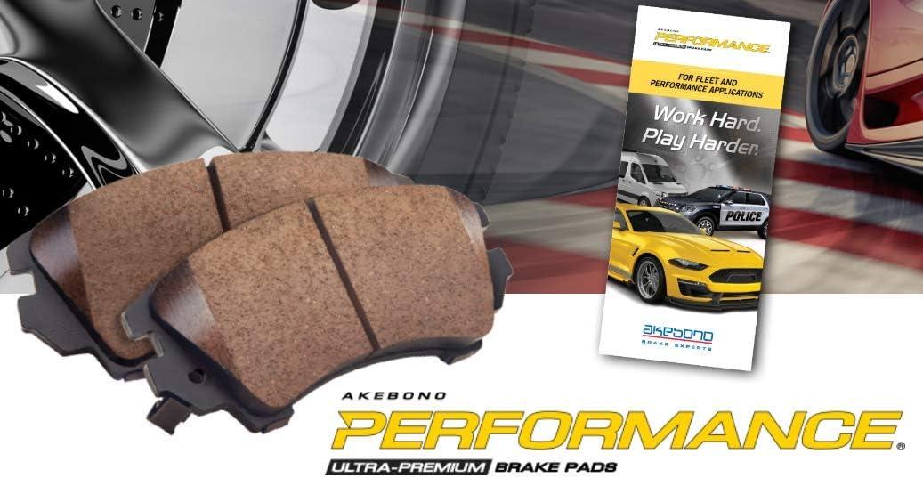1 Pack Akebono ASP1697 Ultra Premium Brake Pad Set