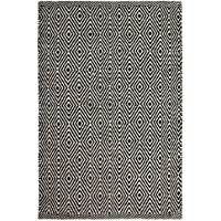Ashford Black/Natural Hand-Woven Washable Eco Cotton Rug Runner