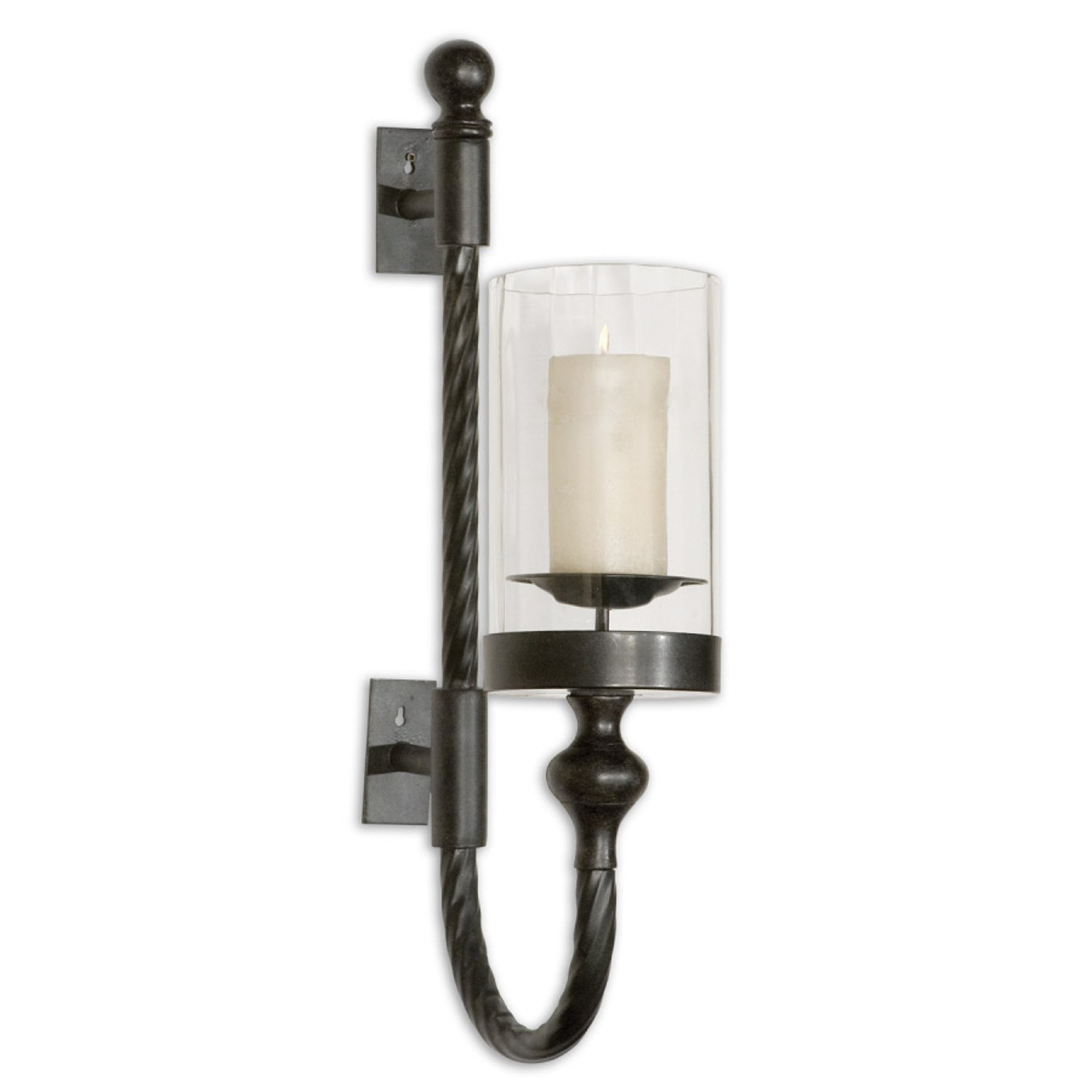 Uttermost Garvin Twist Sconce with Candle
