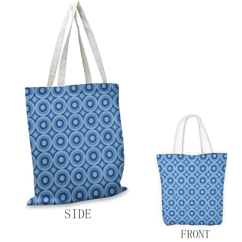 Work package Blue Classical Old Fashioned Checkered Pattern Geometric Diagonal Skewed Squares Coin cash wallet 16.5x14x6.3 Navy Blue and White