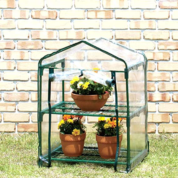 lolly-U Mini Plastic Greenhouse Cover with Zipper UV Resistant Waterproof Plant Grown Clear Tent without Frame 100x50x150 CM