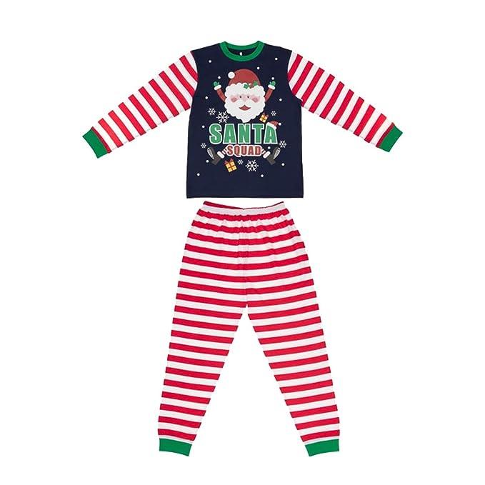 bf42c9847b60 Santa Squad PJs Matching Family Christmas Elf Pyjamas Mens Womens ...