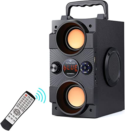 Amazon.com: Portable Bluetooth Speakers with Double Subwoofer Heavy Bass, 30W Stereo Sound, Bluetooth 5.0 Wireless 100ft Outdoor Speaker, Support FM Radio MP3 Player Remote AUX EQ, for Home Patio Party Camping: Home Audio & Theater