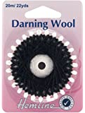 Hemline Darning Wool 20 Metres Shade Black