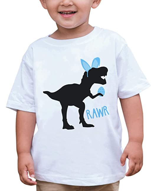 1b68dad208307 Amazon.com  7 ate 9 Apparel Boy s Easter Dinosaur T-Shirt  Clothing