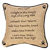 Manual Pet Lover Collection Reversible Throw Pillow, 12.5 X 12.5-Inch, Advice from a Dog X Your True Nature