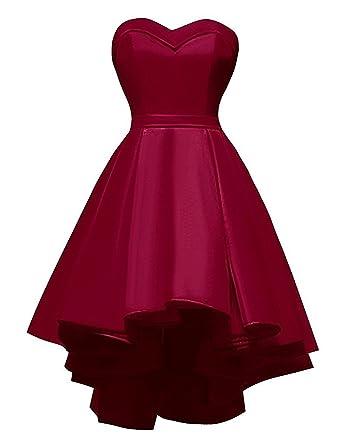 7c0bd6673 Aurora Bridal Women's Hi-Lo Sweetheart 2018 Homecoming Dresses Short  Backless Prom Dresses for Juniors AH015 at Amazon Women's Clothing store: