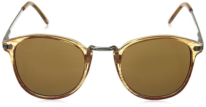 f03e438dde4a Amazon.com  A.J. Morgan Castro Round Sunglasses Amber 49 mm  Clothing