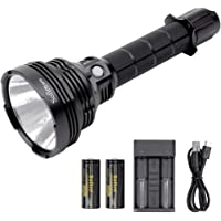 Sofirn SP70 Tactical Flashlight High Lumens 5500lm, with Rechargeable 26650 Batteries and Charger, Powerful Cree XHP70.2 LED, for Outdoor Searching Camping Hunting