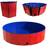 Pet Swimming Pool Bathtub Portable Dogs Cats Bathtub Foldable Dog Shower Pool for Indoor Outdoor
