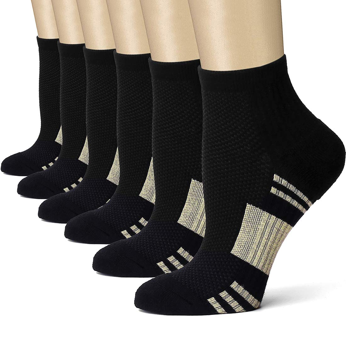 Bluemaple Compression Socks for Women and Men, Compression Ankle Socks, Regular wear, Fashion wear -Say Goodbye to Your Pain (Assorted8, Small/Medium) by Bluemaple