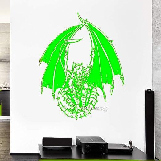 zqyjhkou Llegadas Tatuajes de Pared Dragon Serpent Tale Monster ...