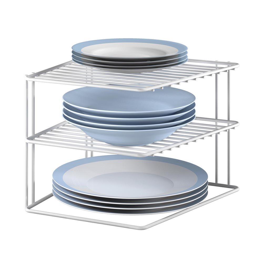 Metaltex Silos Rinconera de 3 estantes, Color Blanco product image
