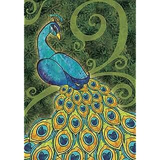 Peacock Garden Flag