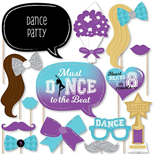 Dance Arrangements - Must Dance to the Beat - Dance - Birthday Party or Dance Party Photo Booth Props Kit - 20 Count