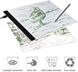 Light Box Drawing, A4 Light Box LED Copy Board Drawing Light Pad with USB cable, Art Craft Drawing Tracing Tattoo Board for Artists, Drawing, Animation, Sketching, Designing (LB-A4 LITE)