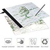 Tableta de Luz, Tablero de Trazado Digital,Mesa de Luz para Dibujo con Cable USB, Light Pad para Artistas, Dibujo, Animación, Bocetos, Diseño
