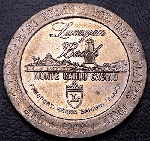 1968 Bahama Island Monte Carlo Casino One Dollar Gaming Token - SCARCE