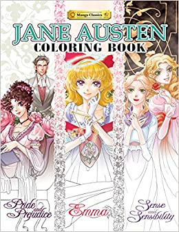 jane austen coloring book manga classics