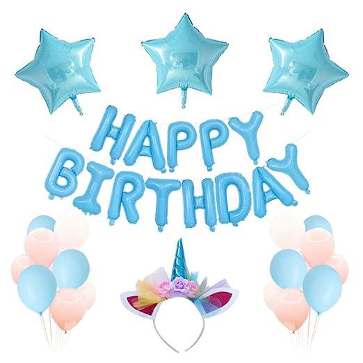 Amosfun decoraciones de cumpleaños globo de papel de ...