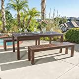 Marin | Acacia Wood Outdoor Picnic Set | Perfect for Patio | | in Dark Brown For Sale