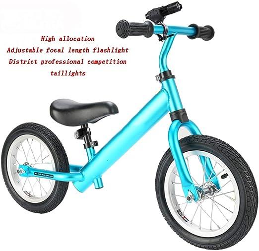 YUMEIGE Bicicletas sin Pedales Bicicletas sin Pedales Rueda de Goma Inflable de aleación de Aluminio 1-6 años Regalo Bicicleta de Equilibrio para niños Manillar Ajustable del Asiento: Amazon.es: Jardín