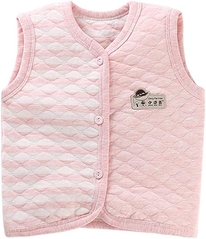 Monvecle Baby Cotton Warm Vests Unisex Infant to Toddler Light Padded Waistcoat