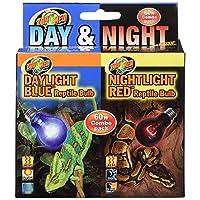 Bombillas de 60 vatios, reptil diurno y nocturno de Zoo Med, paquete combinado