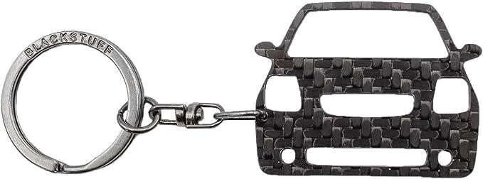 Blackstuff Carbon Karbonfaser Schlüsselanhänger Schlüsselbund Kompatibel Mit C2 Vts 2003 2009 Bs 157 Bekleidung