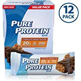Pure Protein Bars, Healthy Snacks to Support Energy, Chocolate Peanut Butter, 1.76 oz, 12 Count