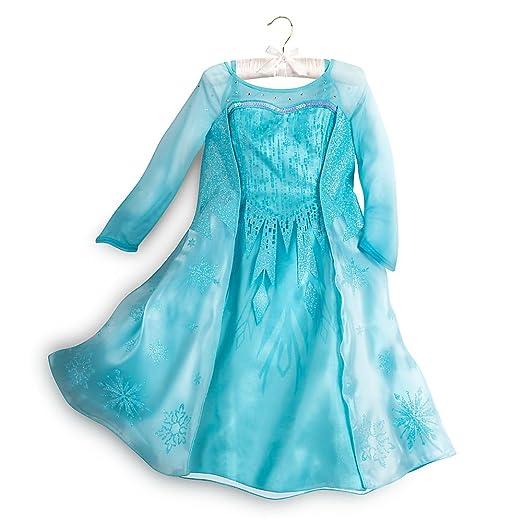 ed48e64fb Amazon.com  Disney Frozen Elsa Costume For Girls Blue  Clothing