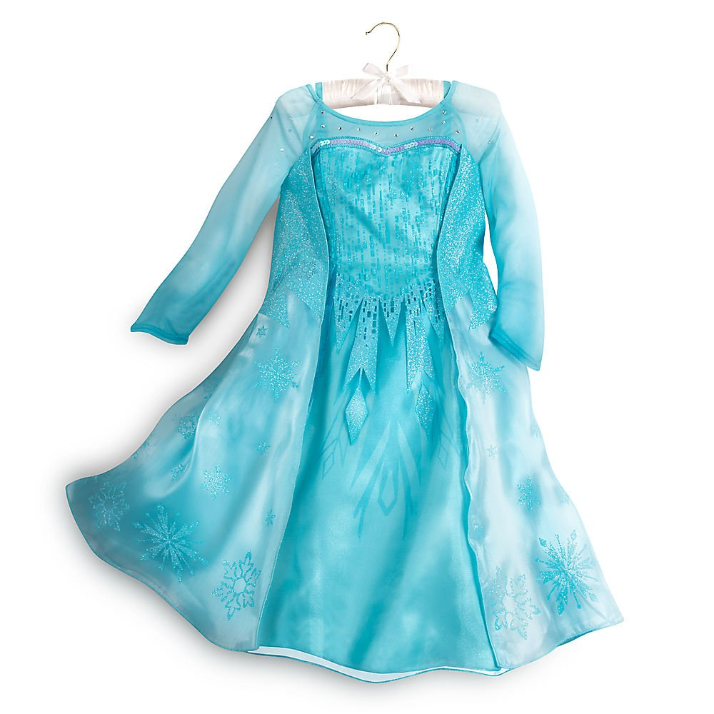 Disney Frozen Elsa Costume For Girls Size 5/6 Blue