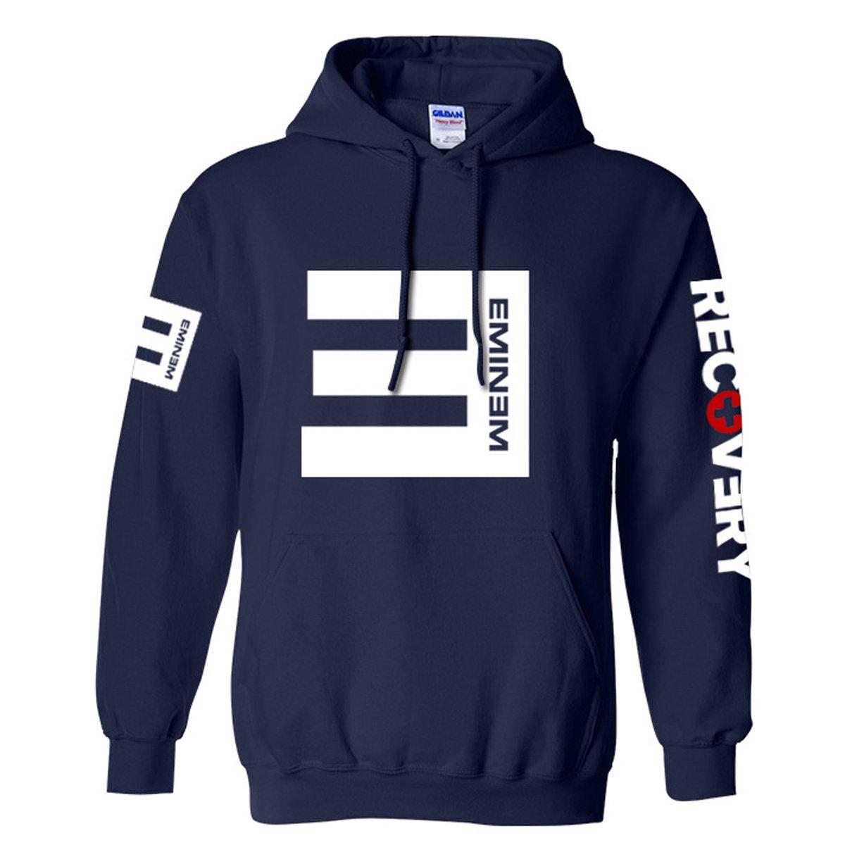 Navy XXLarge Nedal Unisex Hoodie Rap Jacket Fleece Hip Coat Adult Hop Sweatshirt Front Pocket