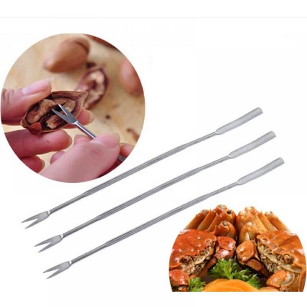 MAXGOODS Stainless Steel Seafood Olive Crab Lobster Forks Picks, 6-Pack