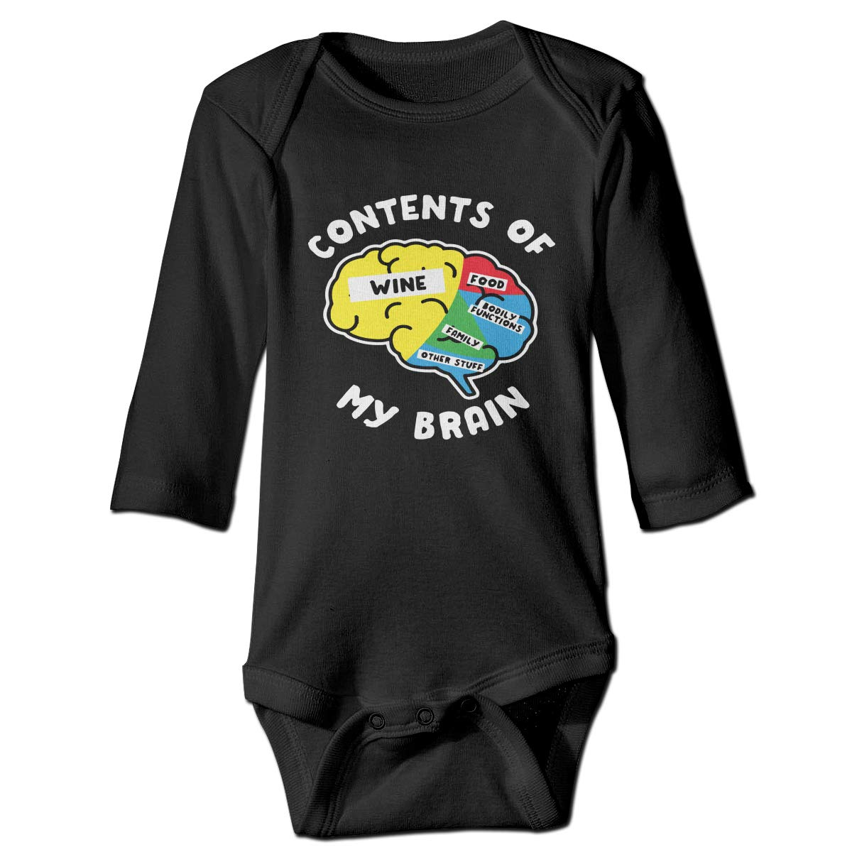 Suit 6-24 Months CZDedgQ99 Baby Boys Contents of My Brain Long Sleeve Climbing Clothes Romper Jumpsuit
