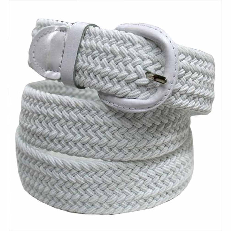Luxury Divas White Braided Elastic Stretch Belt Size Small