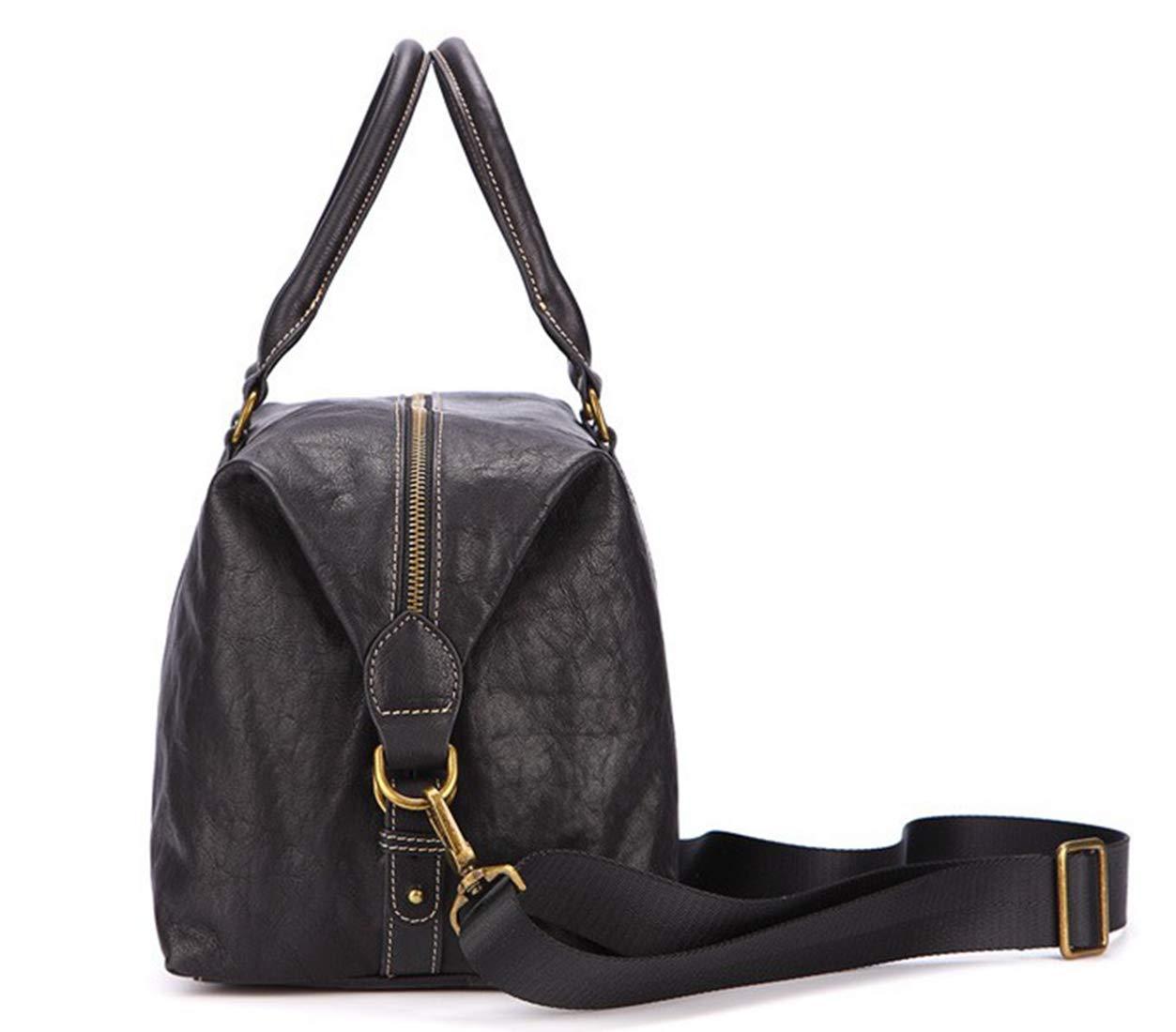 Color : Black RABILTY Portable Travel Bag Shoulder Diagonal First Layer Leather Business Travel Bag