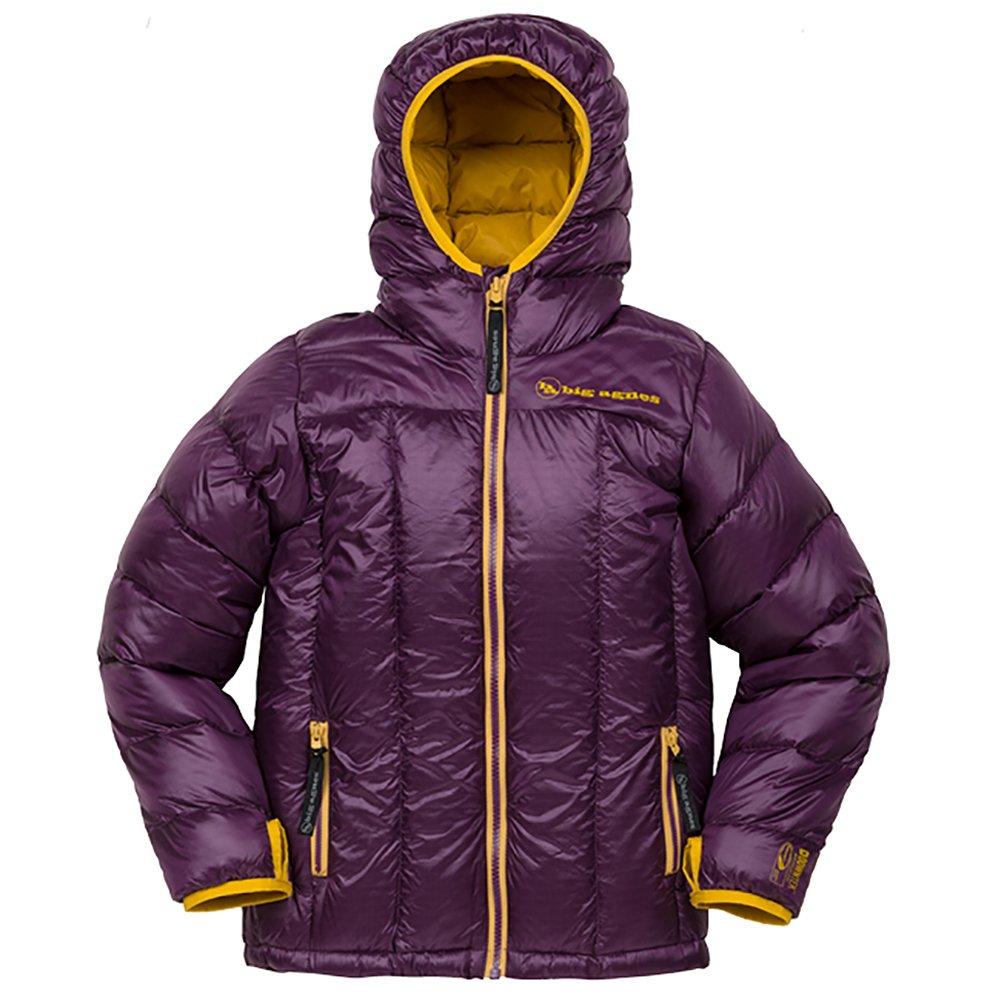 Big Agnes Kid's Insulated Ice House Hoodie, Purple/Gold, Medium