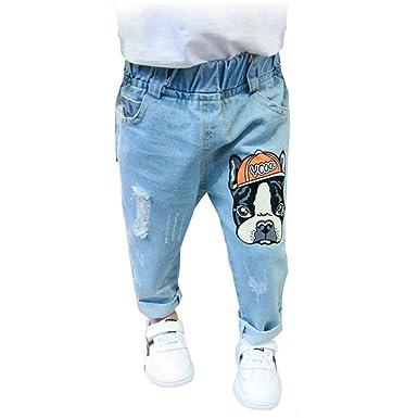 19e3a7e987e0 Amazon.com  PAUBOLI Ripped Jeans Baby Infant Toddler Fashion Denim ...