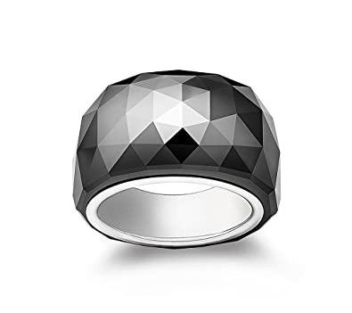 dc175b5e3c56a6 Image Unavailable. Image not available for. Color  Swarovski Jet Black  Hematite Crystal Nirvana Ring ...