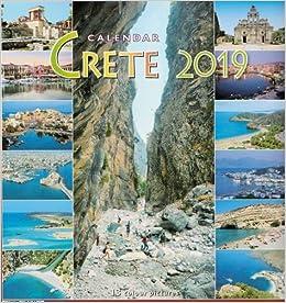Calendario Greco.Amazon It Calendario Murale Greco 2019 Creta Greek Wall