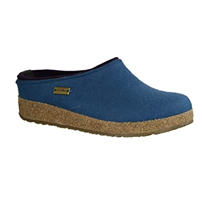 HAFLINGER Unisex Clogs Grizzly Kris, Light Blue: Shoes