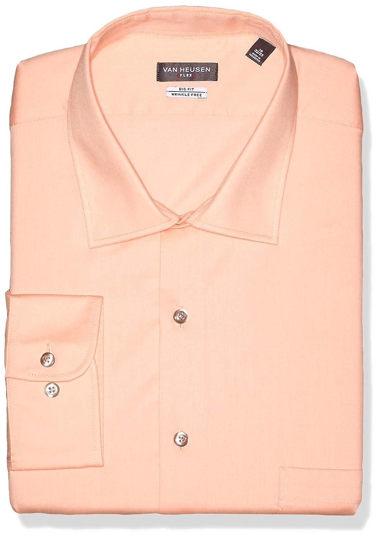 Fleurs 51 cm cou 86 cm- 89 cm hommeches Van Heusen Robe Shirts Big Fit Flex Solid Spread Collar Chemise habillée Homme