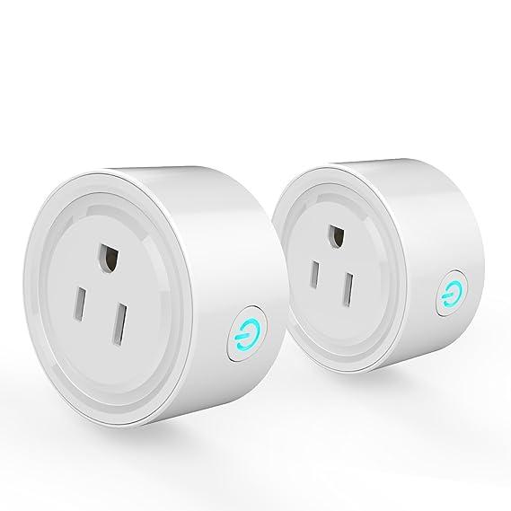 Amazon.com: Potensic Smart Plug 2 Pack Wi-Fi Enabled Mini Smart ...