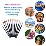Fine Paint Brushes 12 Pieces Professional Handmade
