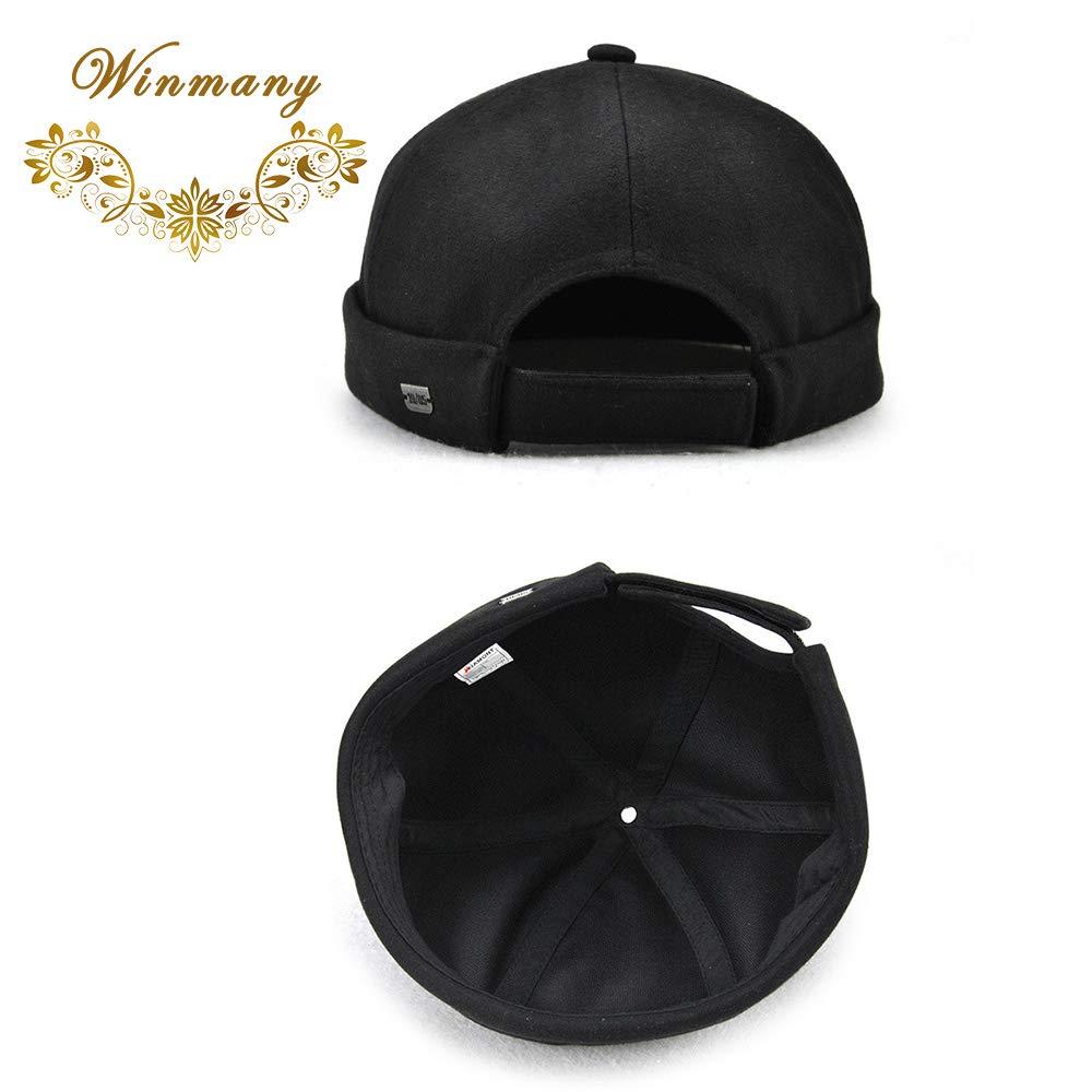 372ec017 Winmany Unisex Women Men skullcap Sailor Cap Rolled Cuff Retro Brimless  Beanie Hat at Amazon Men's Clothing store: