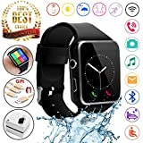 2018 Newest Bluetooth Smart Watch Touchscreen with Camera,Unlocked Watch Phone with Sim Card Slot,Smart Wrist Watch,Smartwatch Phone for Android Samsung S9 S8 IOS Iphone 8 7S Men Women Kids (BLACK)